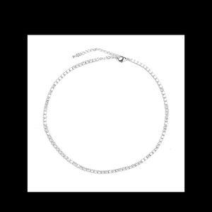 Luxury Silver Crystal Choker
